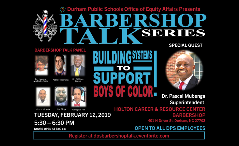 "Barbershop Talk Series ""Building Systems to Support Boys of Color"""