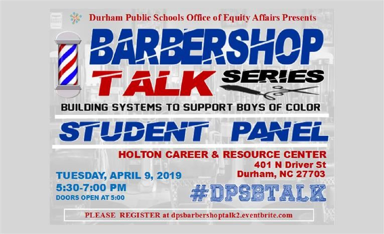 """Barbershop Talk Series: Building Systems to Support Boys of Color"""