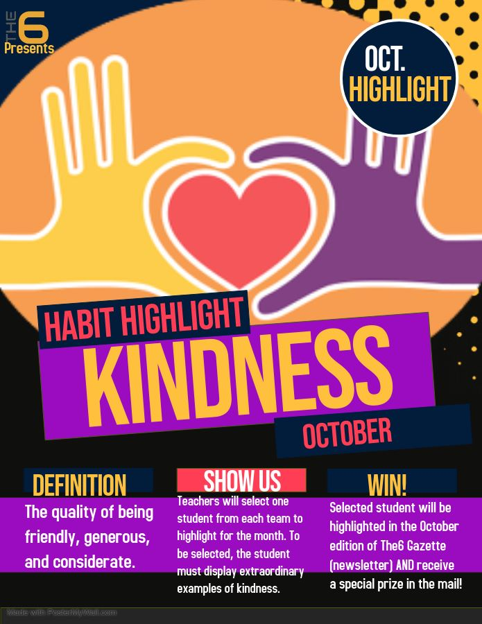 October's Habit is Kindness