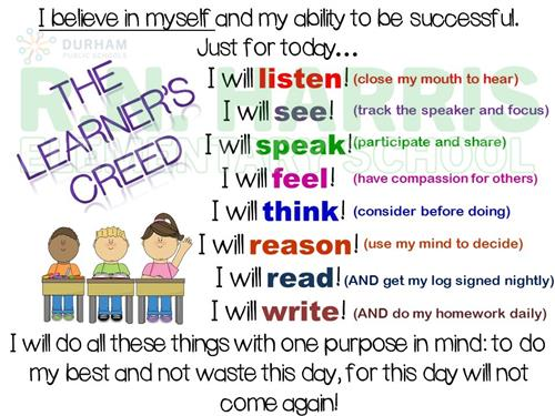 Our Learner's Creed