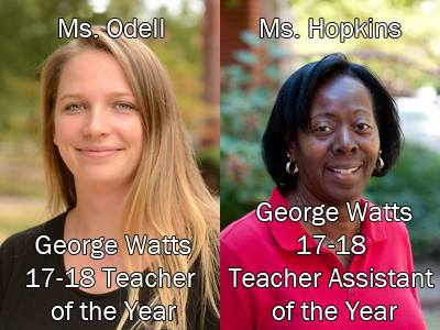 Teacher and Teacher Assistant of the Year