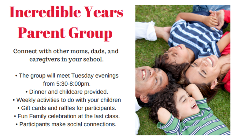 Incredible Years Parent Group Starting Soon!