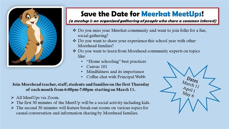 Save the Date for Our First Meerkat Meet Up
