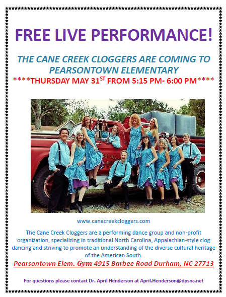 The Cane Creek Cloggers are Coming to Pearsontown