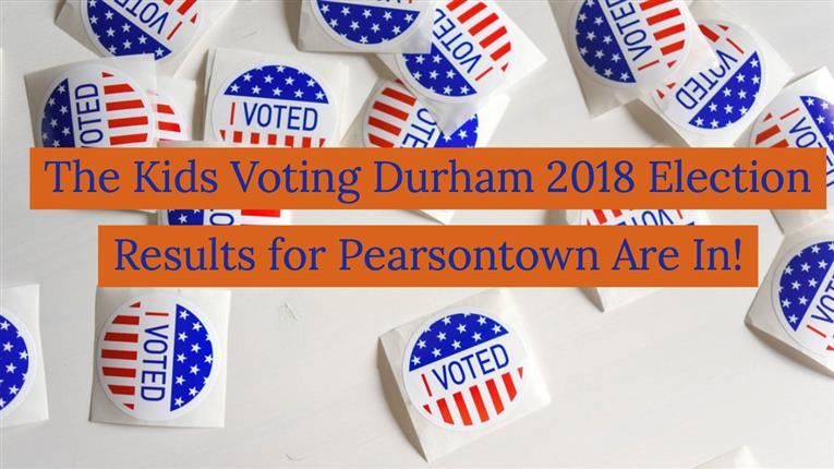 Click Here to View Pearsontown's Kids Voting Durham 2018 Election Results