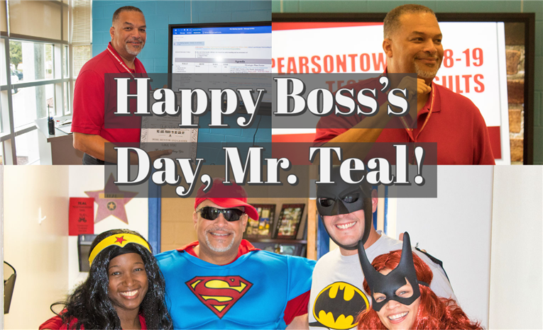 Happy Boss's Day, Mr. Teal!