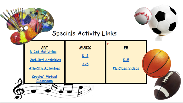 Specials Activity Links