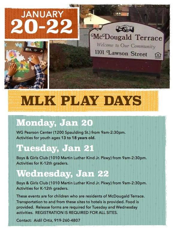 McDougald Terrace MLK Play Days