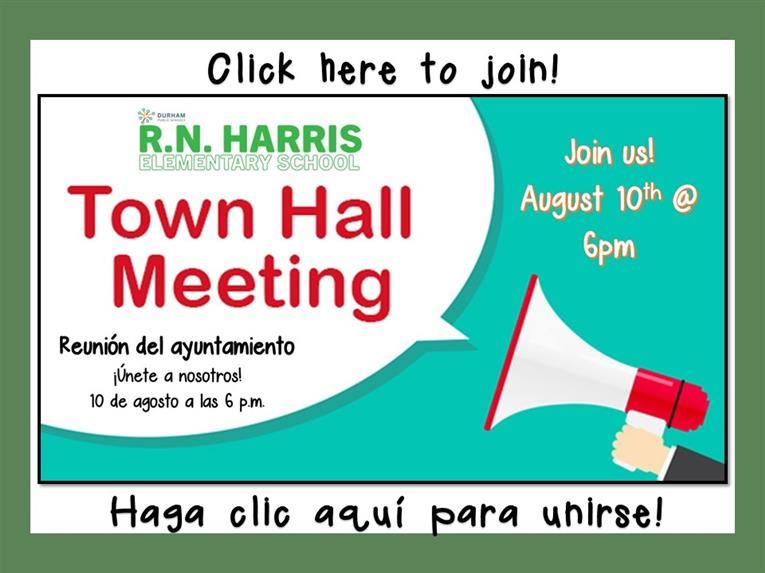 Click here to join our Virtual Town Hall on Monday, August 10th @ 6pm.