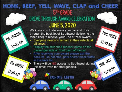 5th Grade Drive Through Awards Celebration