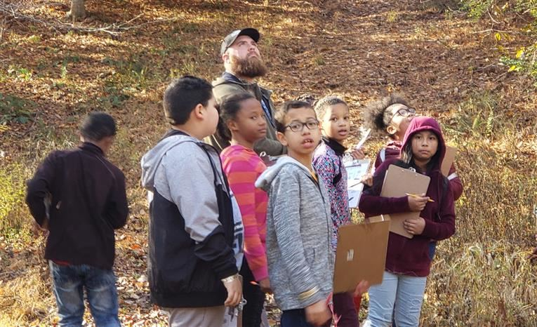 Students Explore Nature during Scavenger Hunt
