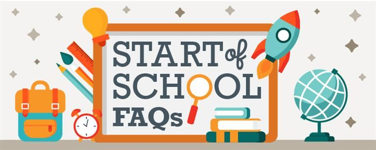 First Days of School FAQ