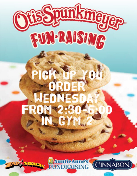 Cookie Dough Pick Up 12/5 2:30-6 PM Gym 2