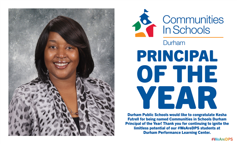 Kesha Futrell named CIS Durham Principal of the Year