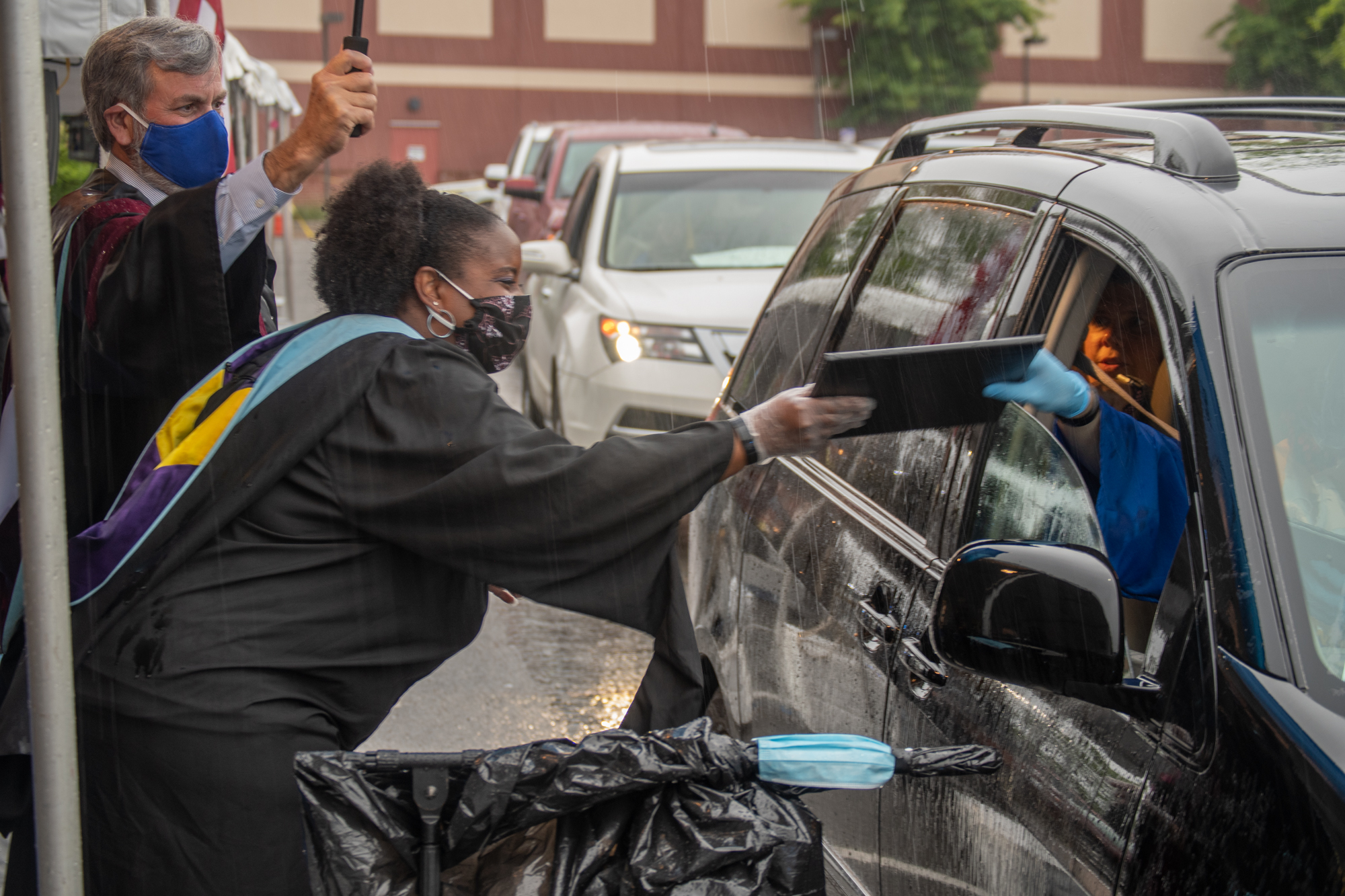 WNCN | Drive-thru graduations begin for Durham high schoolers
