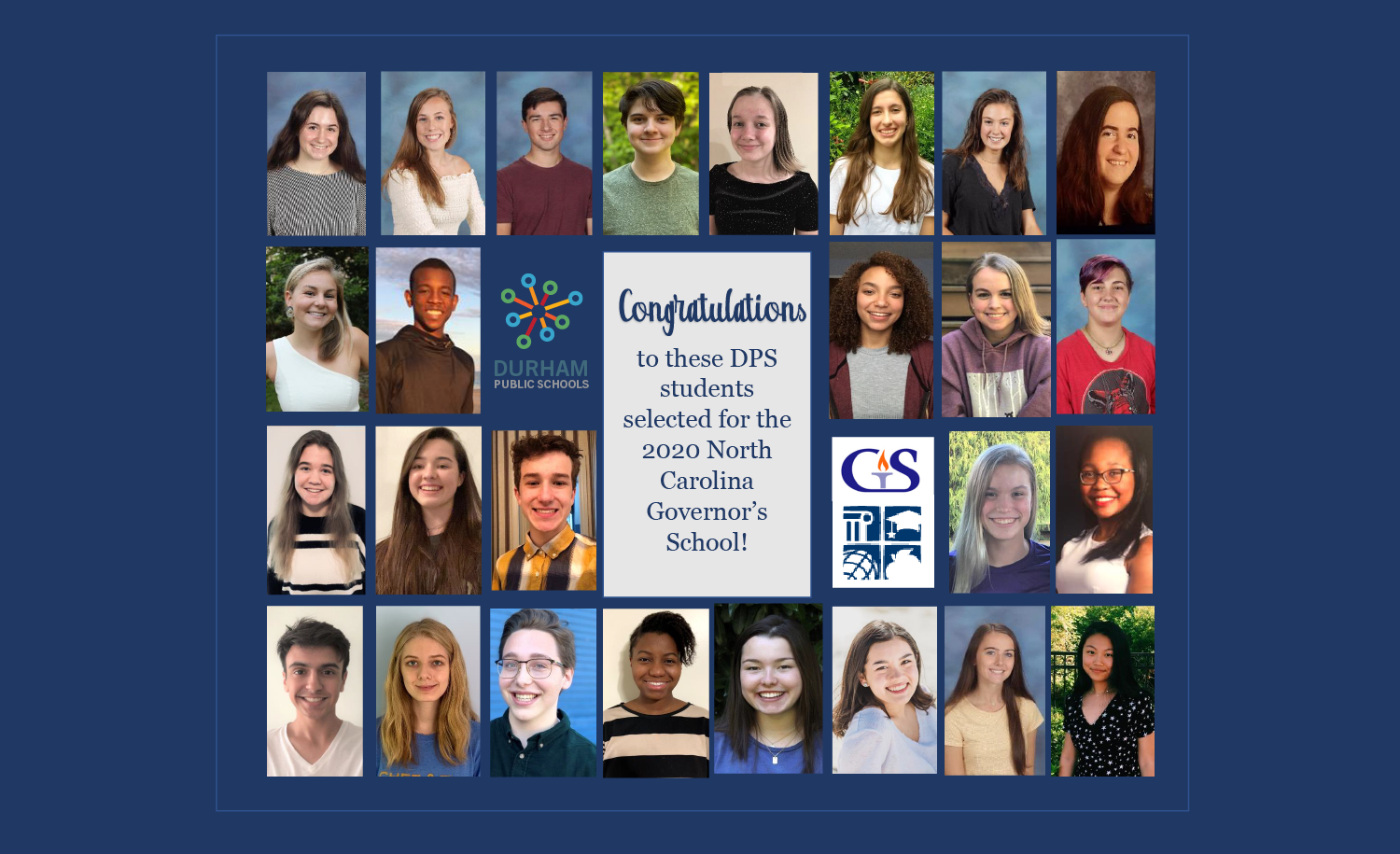 2020 North Carolina Governor's School Honorees