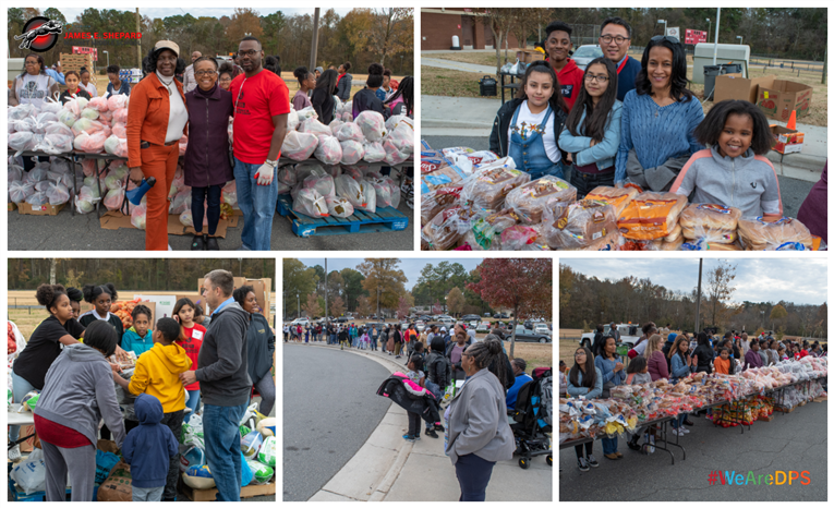 Shepard Middle School Feeds 200 Families for Thanksgiving