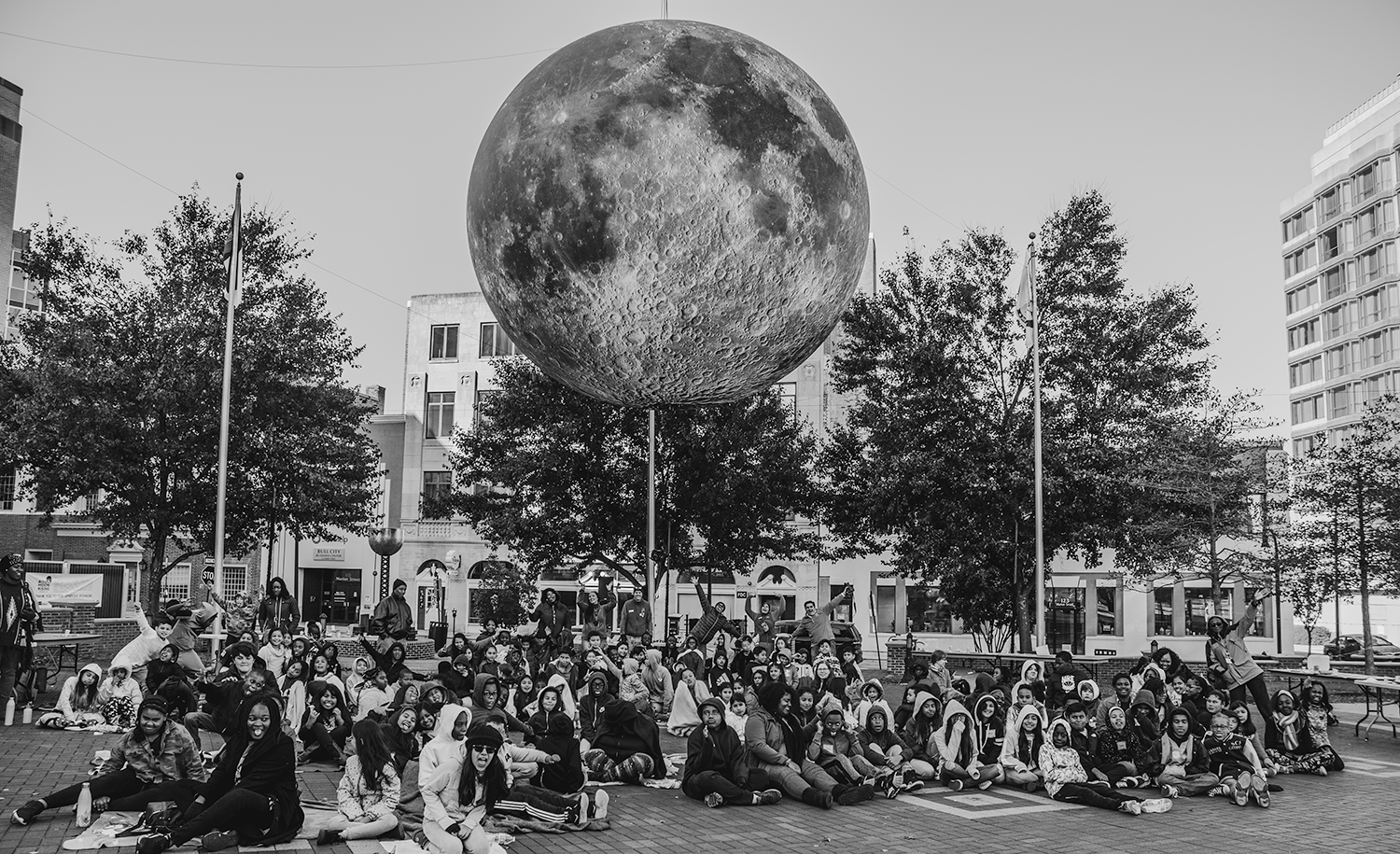 DPS Students Experience Bull Moon Rising Over Downtown