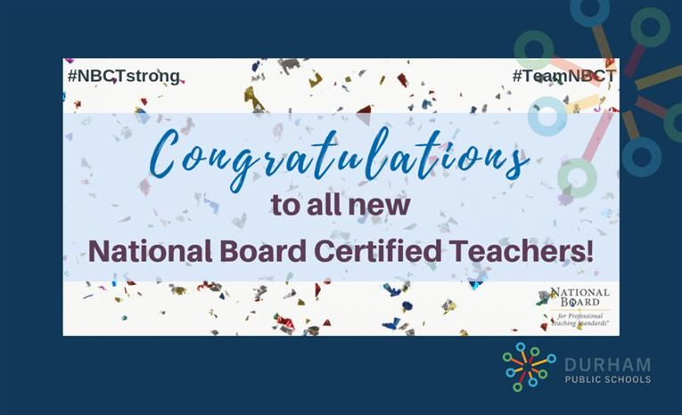 DPS Announces New National Board Certified Teachers