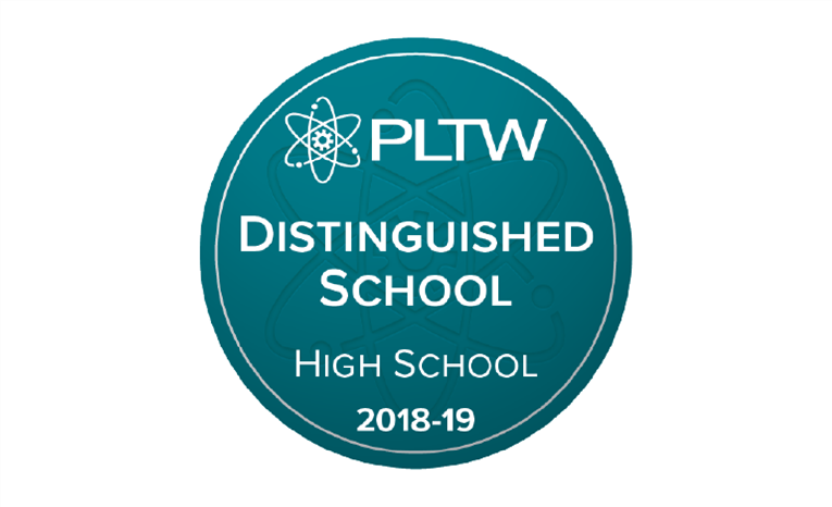 Riverside High has been recognized as a Project Lead The Way Distinguished School