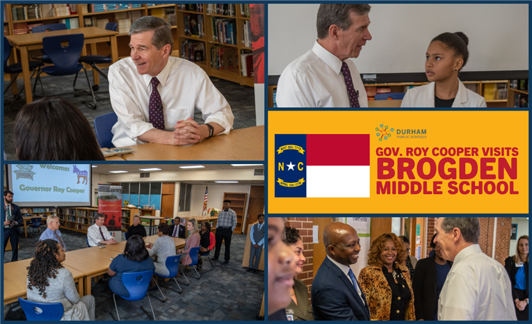 NC Gov. Roy Cooper Visits Brogden Middle School