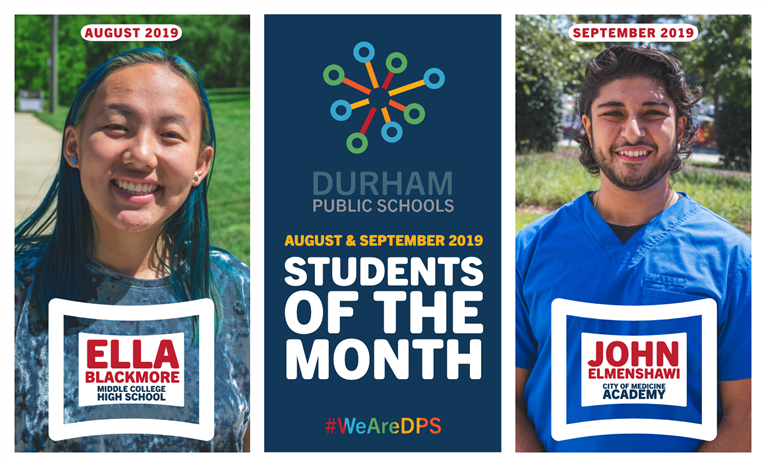 August & September 2019 Students of the Month