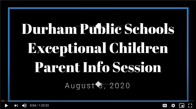 Check out the replay of the Exceptional Children's Question & Answer session held on August 3, 2020