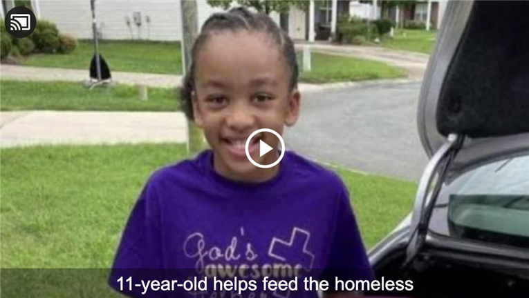 WRAL-TV | After $2,000 in donations and 17 weeks, 11-year-old girl still creating kindness packs for homeless