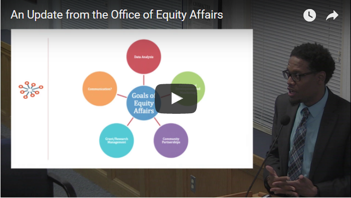 An Update from the Office of Equity Affairs