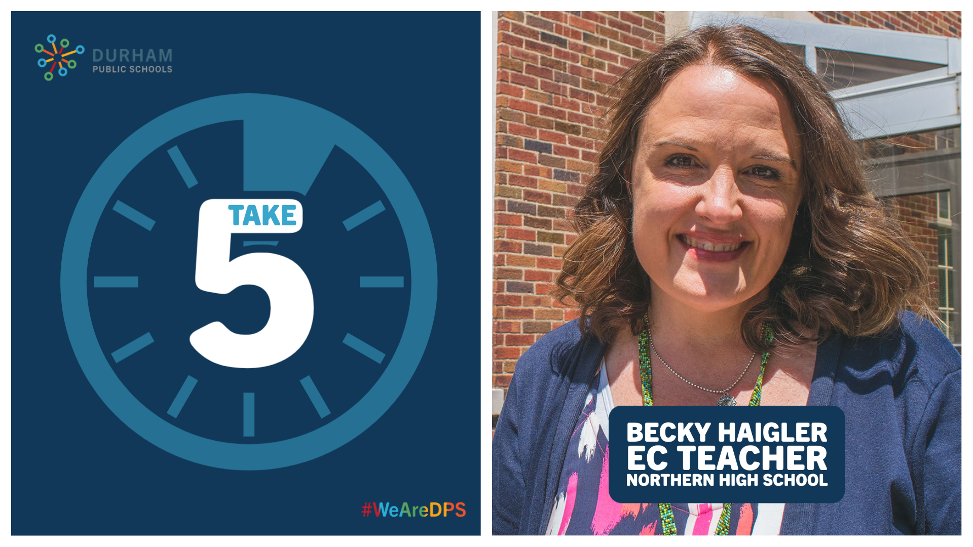 TAKE 5 with EC | Becky Haigler, EC Teacher