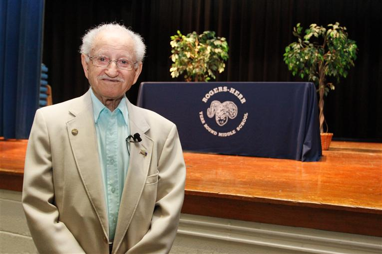 Holocaust Survivor Visits Rogers-Herr