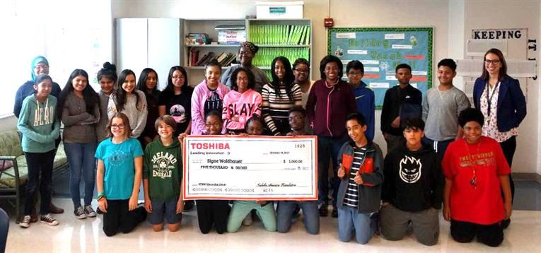 Durham School of the Arts RECEIVES STEM GRANT  FROM TOSHIBA AMERICA FOUNDATION