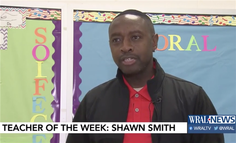 WRAL TV | Teacher of the Week | Shawn Smith of Lowe's Grove Magnet Middle School | 12/4/19