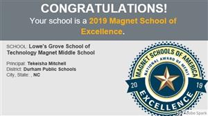 MSA  awarded LGMS with the Merit Award of School of EXCELLENCE