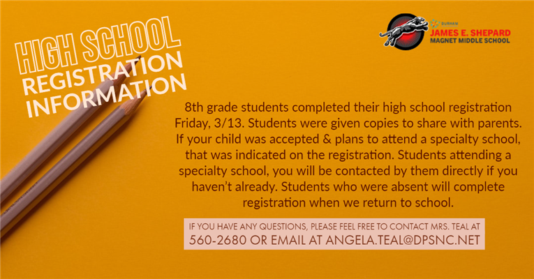 High School Registration Information