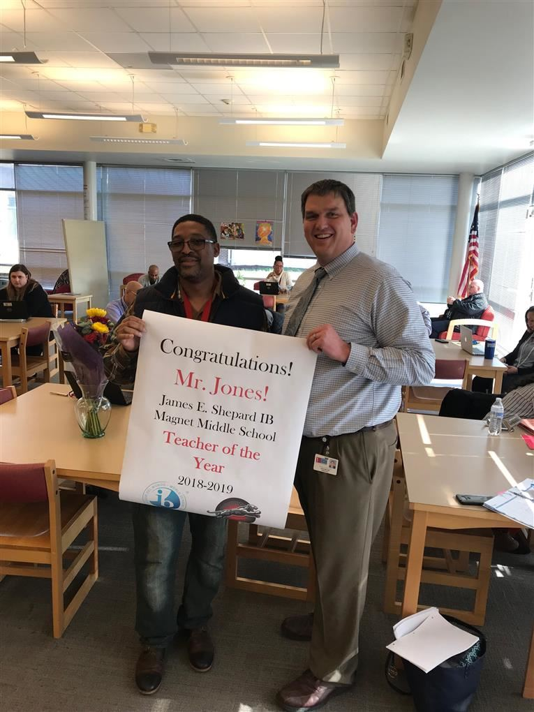 Congratulations Mr. Jones Teacher of the Year!