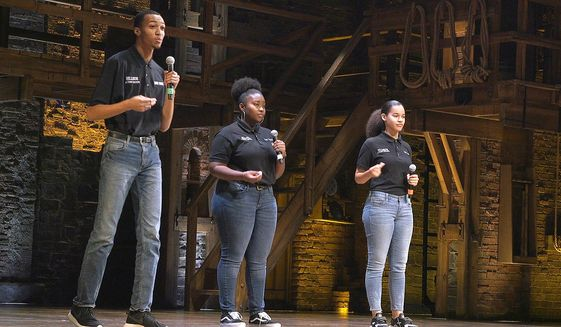 Teens tell America's story with help from 'Hamilton
