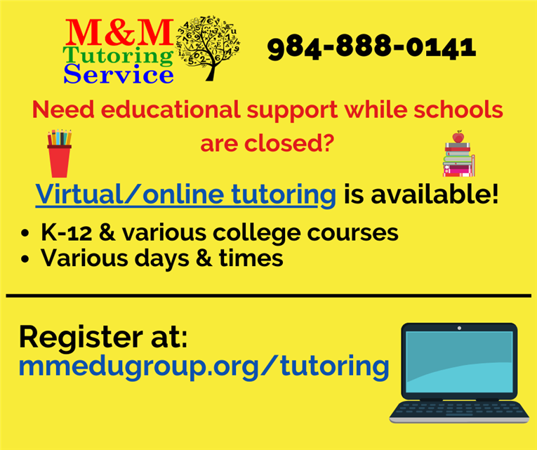 Virtual Online Tutoring Available