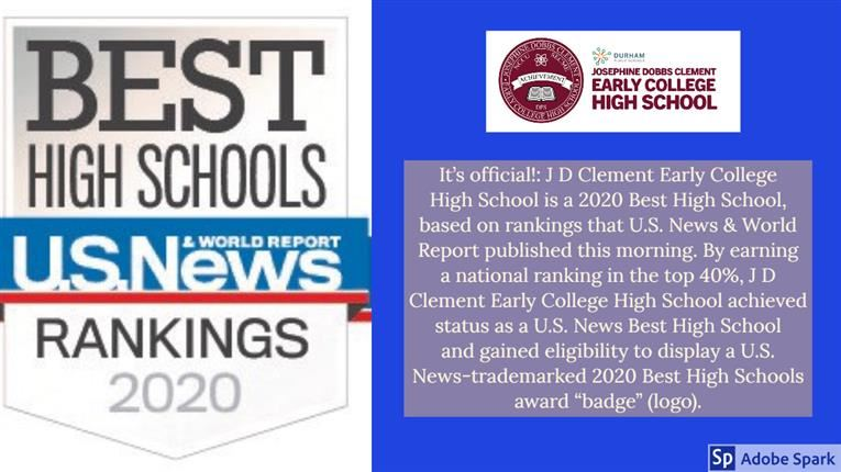 U.S. News & World Report Best High Schools Rankings 2020