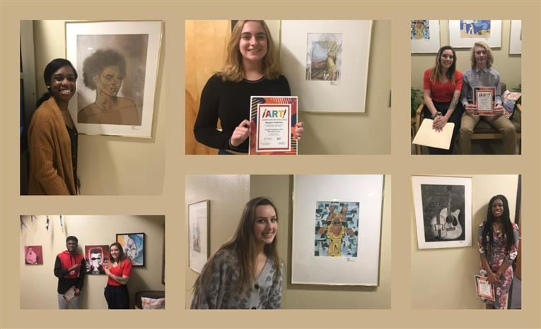 Art Students Participate in Superintendent's Art Reception