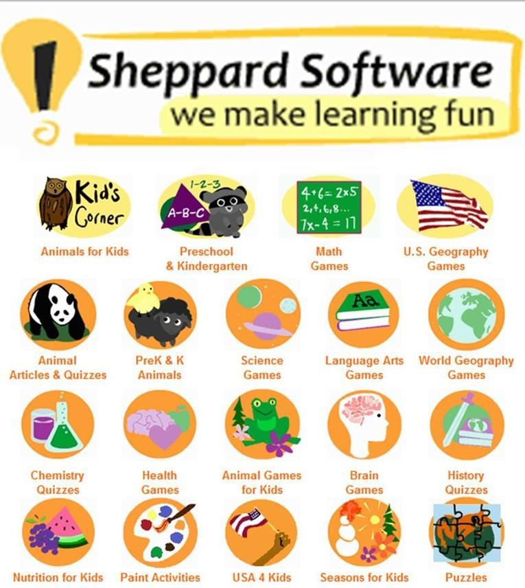 Sheppard Software (Pre-K-5th grade) Educational Games & Activities