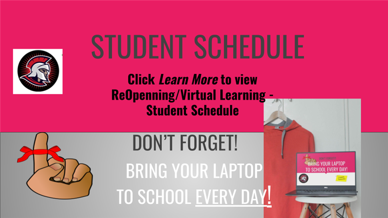 ReOpenning/Virtual Learning - Student Schedule!