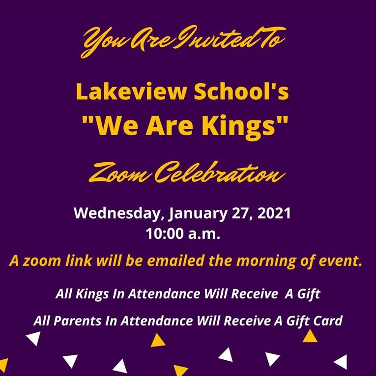 Join us for our We Are Kings Celebration