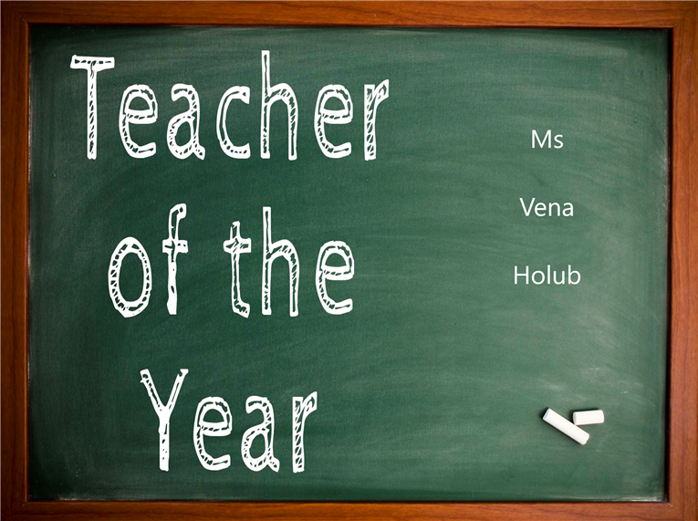Congratulations to Ms. Holub Lakeview's Teacher of the Year