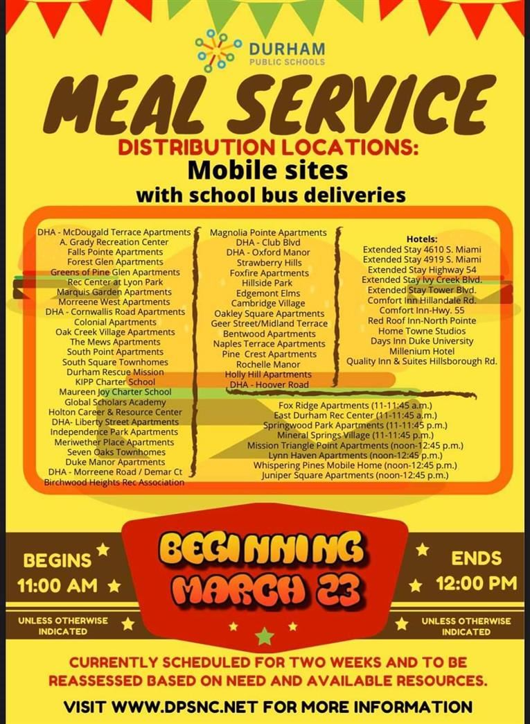 Meal Service Sites & Delivery