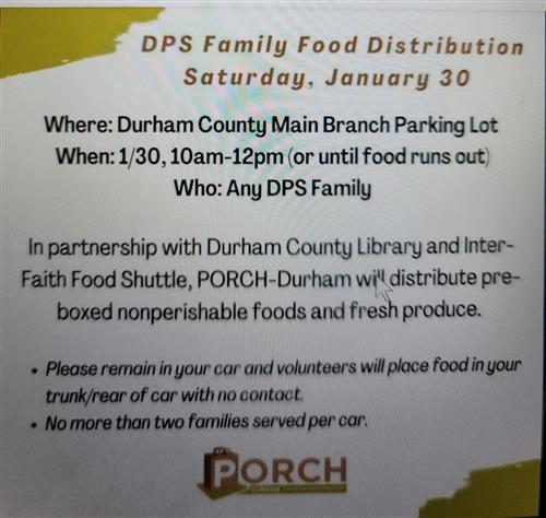 DPS Family Food Distribution