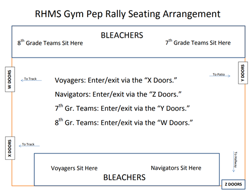 Pep Rally seating Arrangement