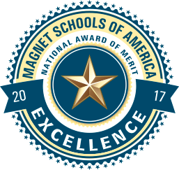 will be recognized and receive a National Magnet School of Excellence Merit Award on behalf of the